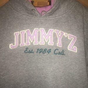Jimmy Z Gray hooded Sweatshirt Size M